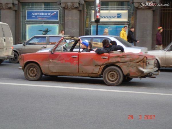 Демотиваторы: кабриолет.